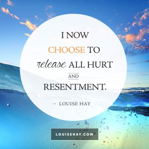 "Inspirational Quotes about forgiveness | ""I now choose to release all hurt and resentment."" — Louise Hay"